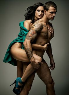 naked male and women models
