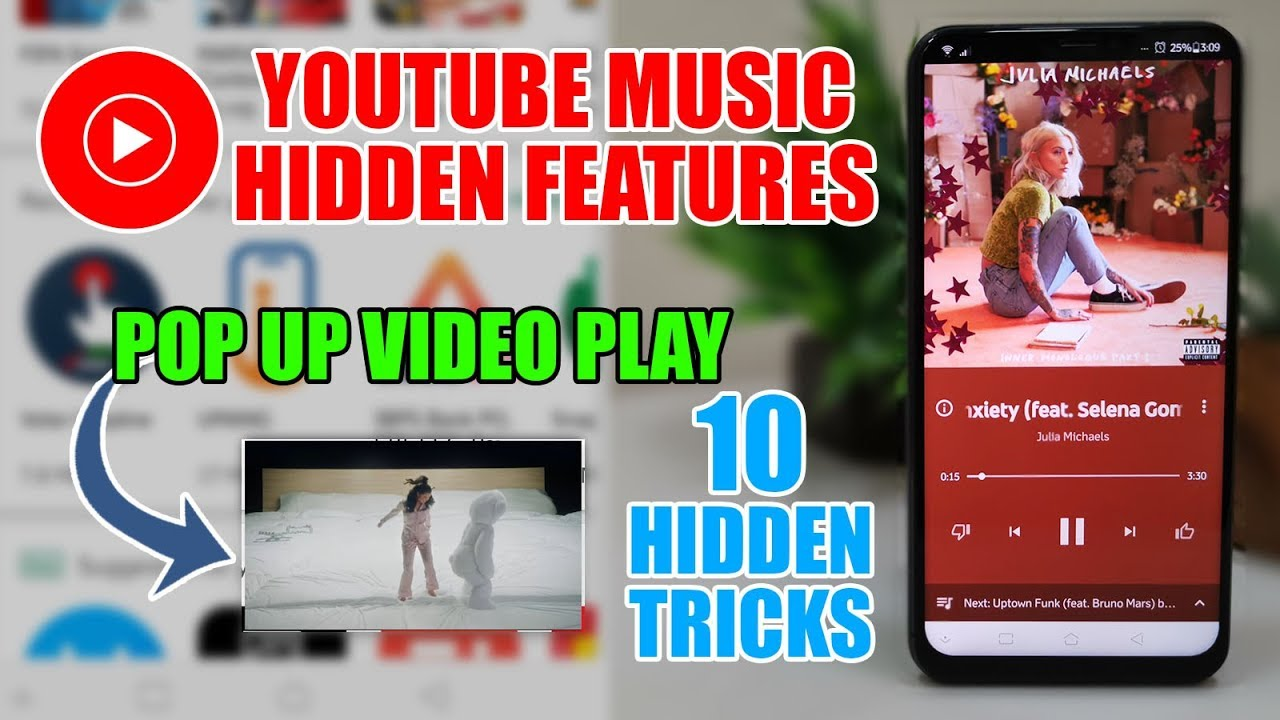 how to get yt music to play in the background