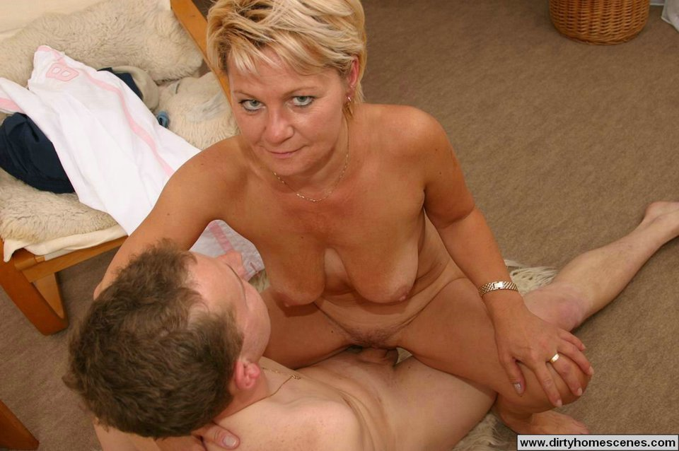 mature blonde mother sons sex