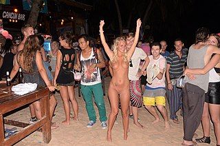 nude party at beach
